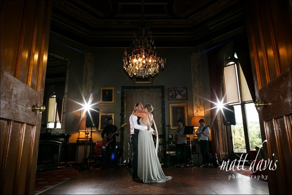 Eastnor Castle wedding photography taken during first dance