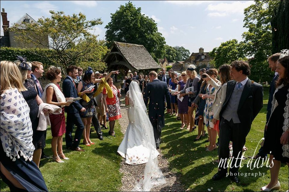 Gloucestershire wedding photographer confetti photo