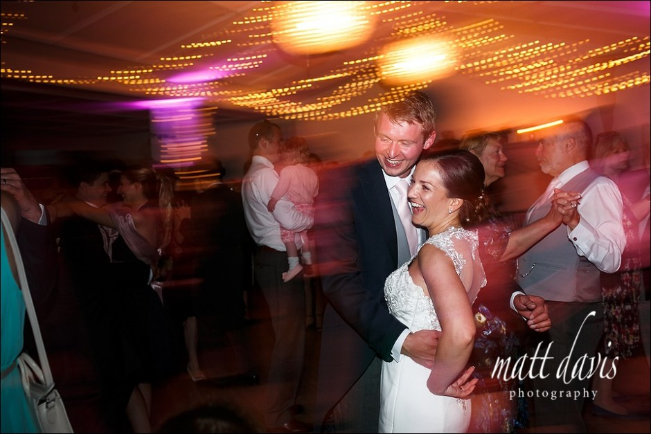 Fun first dance wedding photos at Manor By The Lake Cheltenham